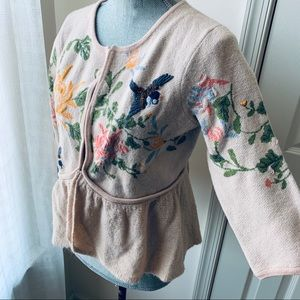 🌸 Moth embroidered sweater